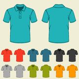 Set of templates colored polo shirts for men Stock Image