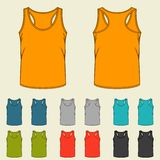 Set of templates colored singlets for men Royalty Free Stock Photos