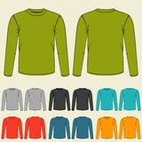 Set of templates colored sweatshirts for men Stock Photos