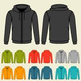 Set of templates colored sweatshirts for men Royalty Free Stock Photography