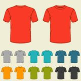 Set of templates colored t-shirts for men Stock Image