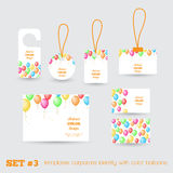 Set of templates corporate identity with color bal Royalty Free Stock Photography