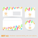 Set of templates corporate identity with color bal Royalty Free Stock Photo