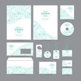 Set of templates corporate identity with decorativ Stock Photos