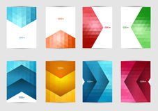 Set of templates covers for flyer, brochure, banner, leaflet, book , A4 size. Cover layout design. Abstract presentation templates, artistic creative mockup Vector Illustration