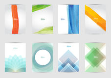 Set of templates covers for flyer, brochure, banner, leaflet,  book , A4 size. Cover layout design. Royalty Free Stock Photography