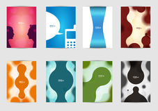 Set of templates covers for flyer, brochure, banner, leaflet,  book , A4 size. Cover layout design. Stock Images