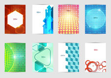 Set of templates covers for flyer, brochure, banner, leaflet,  book , A4 size. Cover layout design. Royalty Free Stock Photo