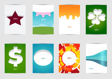 Set of templates covers for flyer, brochure, banner, leaflet,  book , A4 size. Cover layout design. Royalty Free Stock Image