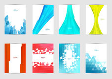 Set of templates covers for flyer, brochure, banner, leaflet, book , A4 size. Cover layout design. Abstract presentation templates, artistic creative mockup Royalty Free Illustration