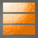 Set of templates for design of banners, web pages in geometric graphic style. Stock Image