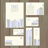 Set of templates with floral pattern Royalty Free Stock Photography