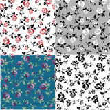 Set templates with floral patterns Royalty Free Stock Photo