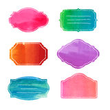 Set of templates frames labels, stickers, banner Royalty Free Stock Images