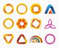 Set of templates gradient logos. royalty free illustration