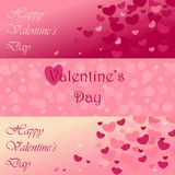 A set of templates for greeting cards, banners, backgrounds Valentines Day.  Stock Images