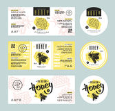 Set of templates label for honey Royalty Free Stock Images