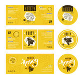 Set of templates label for honey Royalty Free Stock Photos