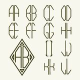 Set 1  templates of letters to create monogram Stock Image