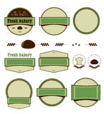 Set of templates for logo. Round, strips, combined, retro design royalty free illustration