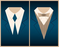 Set templates with men's suits and place - Illustration Vector EPS 10 Royalty Free Stock Image