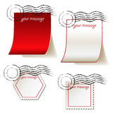 Set of templates for message Stock Images