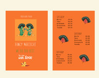 Set of templates for mexican restaurant Royalty Free Stock Photo