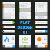 Set of templates mobile interface. Flat  UI/UX. Can be used in m Stock Image