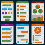 Set of templates mobile interface. Flat  UI/UX. Can be used in m Royalty Free Stock Photo