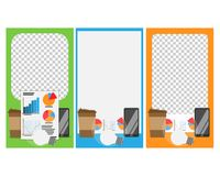 A set of templates. Modern cover design for social networks. A set of templates. Modern cover design for social networks, flyers, cards royalty free illustration