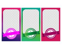 A set of templates. Modern cover design for social networks. A set of templates. Modern cover design for social networks, flyers, cards vector illustration