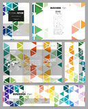 Set of templates for presentation, brochure, flyer or booklet. Abstract colorful business background, modern stylish Royalty Free Stock Photos