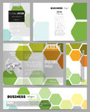 Set of templates for presentation, brochure, flyer or booklet. Abstract colorful business background, modern stylish Royalty Free Stock Photo
