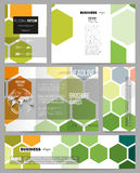 Set of templates for presentation, brochure, flyer or booklet. Abstract colorful business background, modern stylish Royalty Free Stock Images