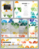 Set of templates for presentation, brochure, flyer or booklet. Abstract colorful business background, modern stylish Stock Photo