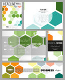 Set of templates for presentation, brochure, flyer or booklet.  Stock Photography