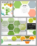Set of templates for presentation, brochure, flyer or booklet.  Royalty Free Stock Photos
