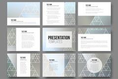 Set of 9 templates for presentation slides Stock Image