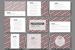 Set of 9 templates for presentation slides. Modern Stock Photo