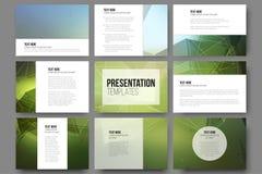 Set of 9 templates for presentation slides Stock Images