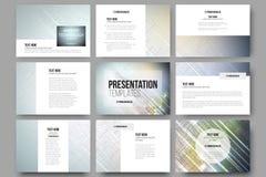 Set of 9 templates for presentation slides Stock Photo