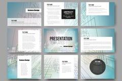 Set of 9 templates for presentation slides Royalty Free Stock Image