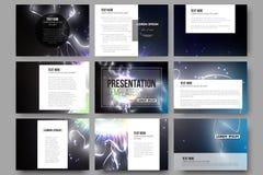 Set of 9 templates for presentation slides Stock Photos