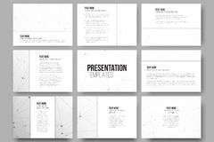 Set of 9 templates for presentation slides Royalty Free Stock Photography