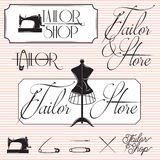 Set of templates for promotional signage for tailor shop Royalty Free Stock Images