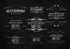 Set of templates for restaurant menu Royalty Free Stock Image
