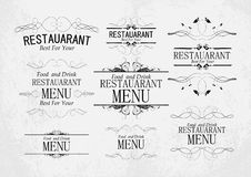 Set of templates for restaurant menu Royalty Free Stock Photography
