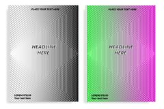 A set of templates of two books with an abstract design of covers and realistic shadows. Templates of books and design of covers are in different layers Royalty Free Stock Photo
