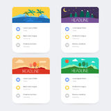 Set of templates with user interface design Stock Image