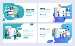 Education web page design Vector Illustration